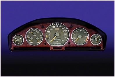 Peugeot 206 chrome dash bezel ring KIT for dashboard